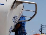 Lavori ad Atene-  carena alaggio e varo e lavori per wind pilot