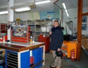 io e lucetta alla wind pilot ad amburgo con peter gennaio 08